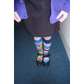 We wore odd socks to show we are all different.