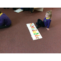 Reading The Very Hungry Caterpillar.