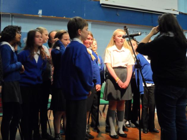 The School Choir conducted by Miss Waight