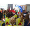 Year 5 get a guided tour of Metro Bank Southampton