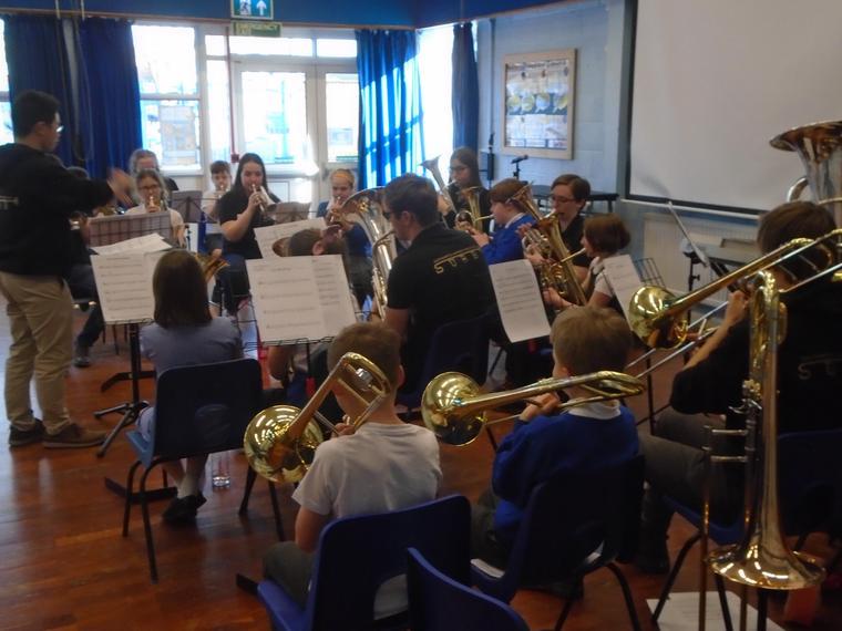 Trombones, Baritones,Tenor Horns and the Tuba