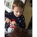 Makai has been baking a cake
