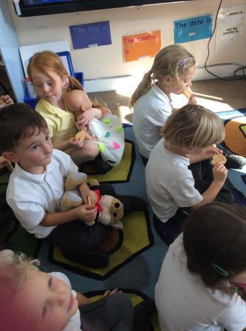 We shared our picnic with our teddies.