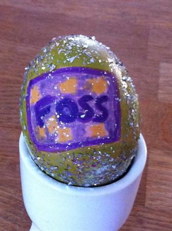 Dodgy FOSS Egg decorating !