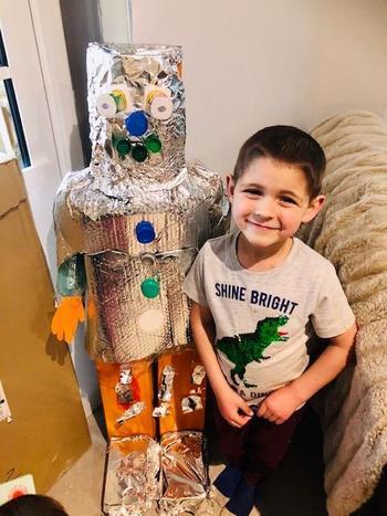 he's also built a robot!