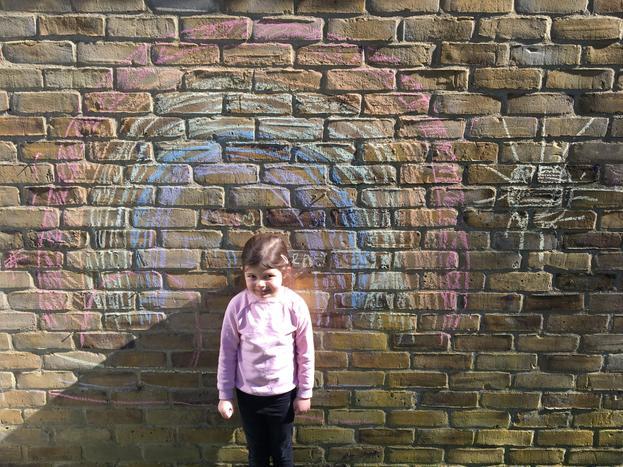 Imogen made a rainbow