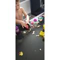 Makai has been model making with playdough too