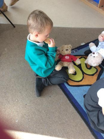 The Teddies thought it was yummy too.