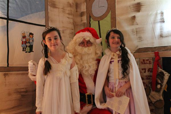 Father Christmas with Snow Queens