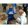 We used our senses to explore sensory boxes