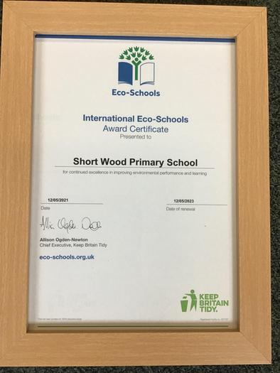 Recognising our dedication to environmental learning - well done everyone!