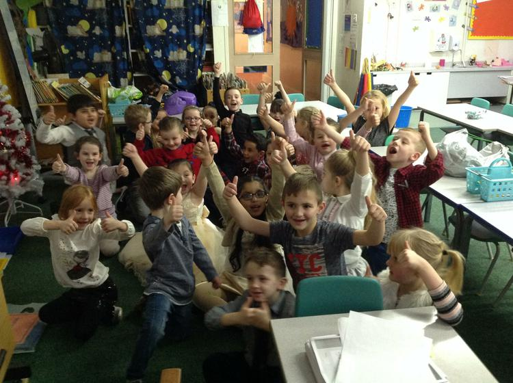 Class 2W getting ready for their Christmas party!