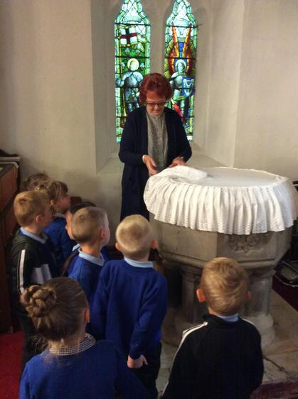 Reverend Muriel told us about the font.