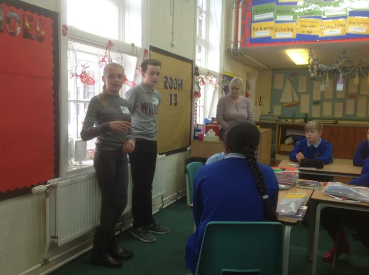 Ethan and Leah sharing their secondary experiences