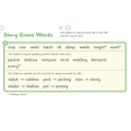 Story green words