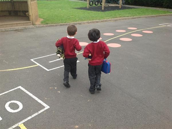 Happily heading back to the playground!