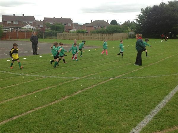Year 2 Friendly Football Match against Shortwood
