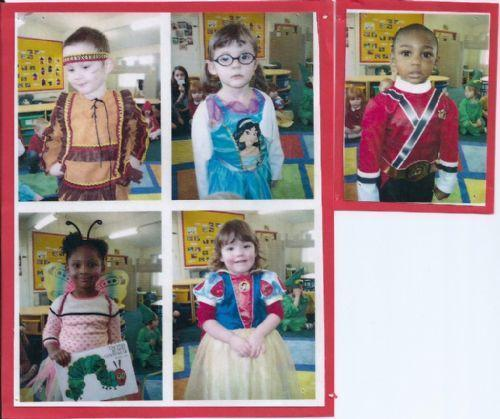 We dressed up as characters from stories