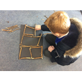 Nature Art in the style of Andy Goldsworthy