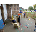 Outdoor learning - Construction blocks