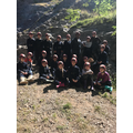 One group ready for the caves!