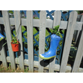 Even our old Wellington boots are useful!