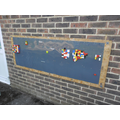 Mrs P's husband made for us this Big Lego board! Mrs Scutt donated the smaller boards!
