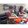 Working together in the Cookery Competition