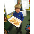 Welsh Cakes for St David's Day made by James.