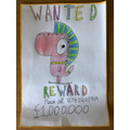 Thomas's monster 'WANTED' poster