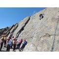 Climbing the 'slab'.
