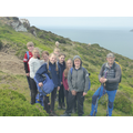 Hiking over Conwy Mountain