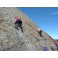 Confident climbing.