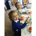Making Meteor cakes on Space Day