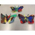 Beautiful butterflies by Reception children