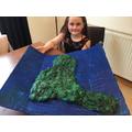 Isabella's Lundy Island model