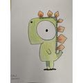 Corey's amazing dinosaur.