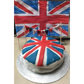 Bella's amazing red, white and blue cake