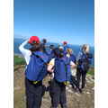 Reaching the top of Conwy Mountain