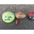 Marcey's painted stones