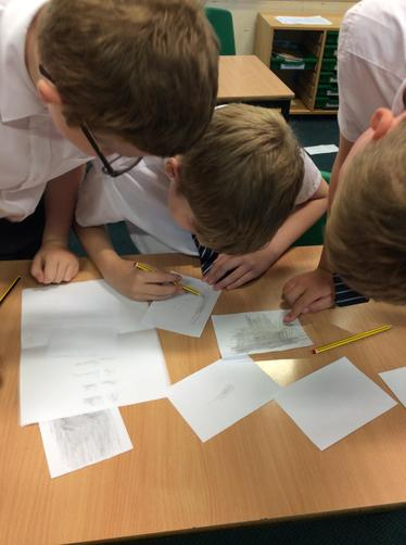 Trying to uncover a hidden message and match the handwriting.