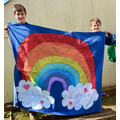 Jake and Oscar's rainbow in support of the NHS