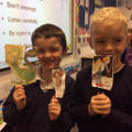 Y2 - Making puppets for The Paperbag Princess