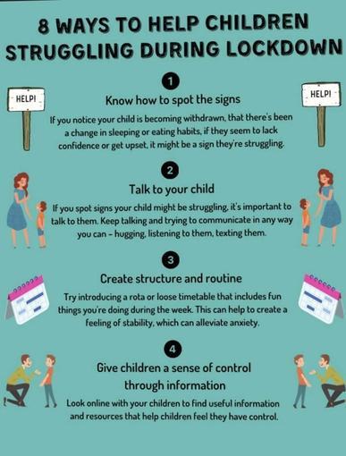 8 ways to help children struggling during lockdown - page 1