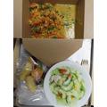 'Narinder's Vegetable Biryani and Special Lentil Dhal', Kachumber Salad and fresh fruit