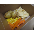 Quorn and Sweetcorn Pie with Puff Pastry and New Potatoes