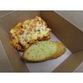 Vegetarian Pasta Bake with Garlic Bread