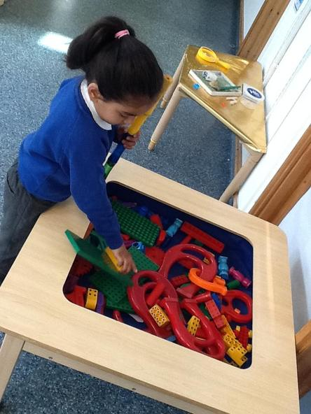 Exploring magnets is great fun! We pretend to make different flavoured ice-cream using the