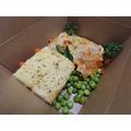 Vegetarian Lasagne with homemade garlic bread