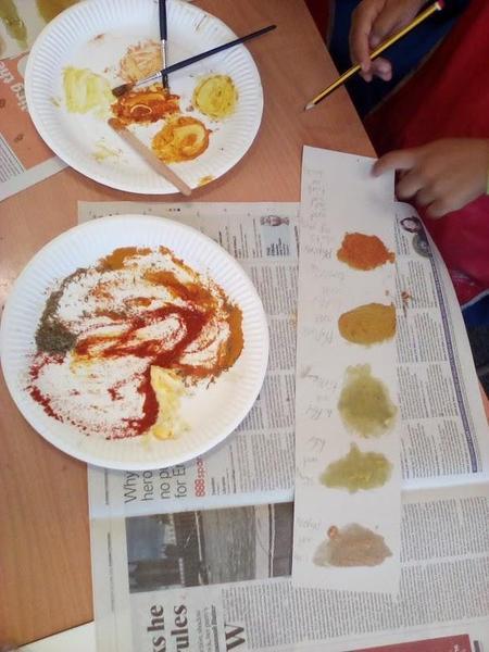 Making paint using natural materials